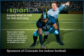 Colorado ICE advert for NCBR, Anthony Perkins #55 with Paul Mueller