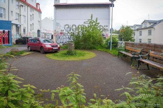 Sigrun jokes about how Icelandic people park wherever they want to. This is a perfect example.